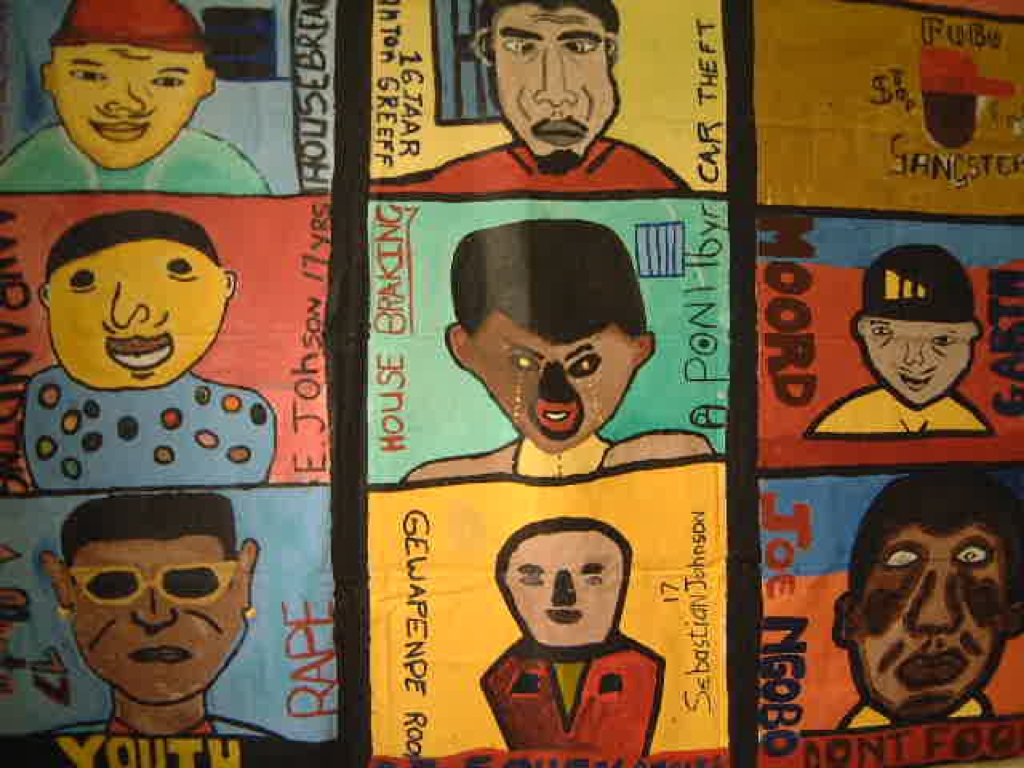 Children's art from the Cape Town One City Festival 2000
