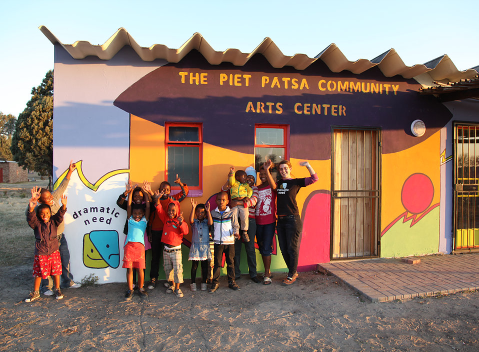 The  Dramatic Need Piet Patsa Community Arts Centre  in the Free State.  uncredited photo from the internet
