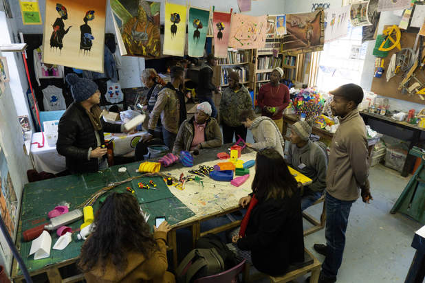 Our Workshop - a maker space set up by Heath Nash at the Guga S'Thebe Arts Centre in Langa ( photo from the internet)