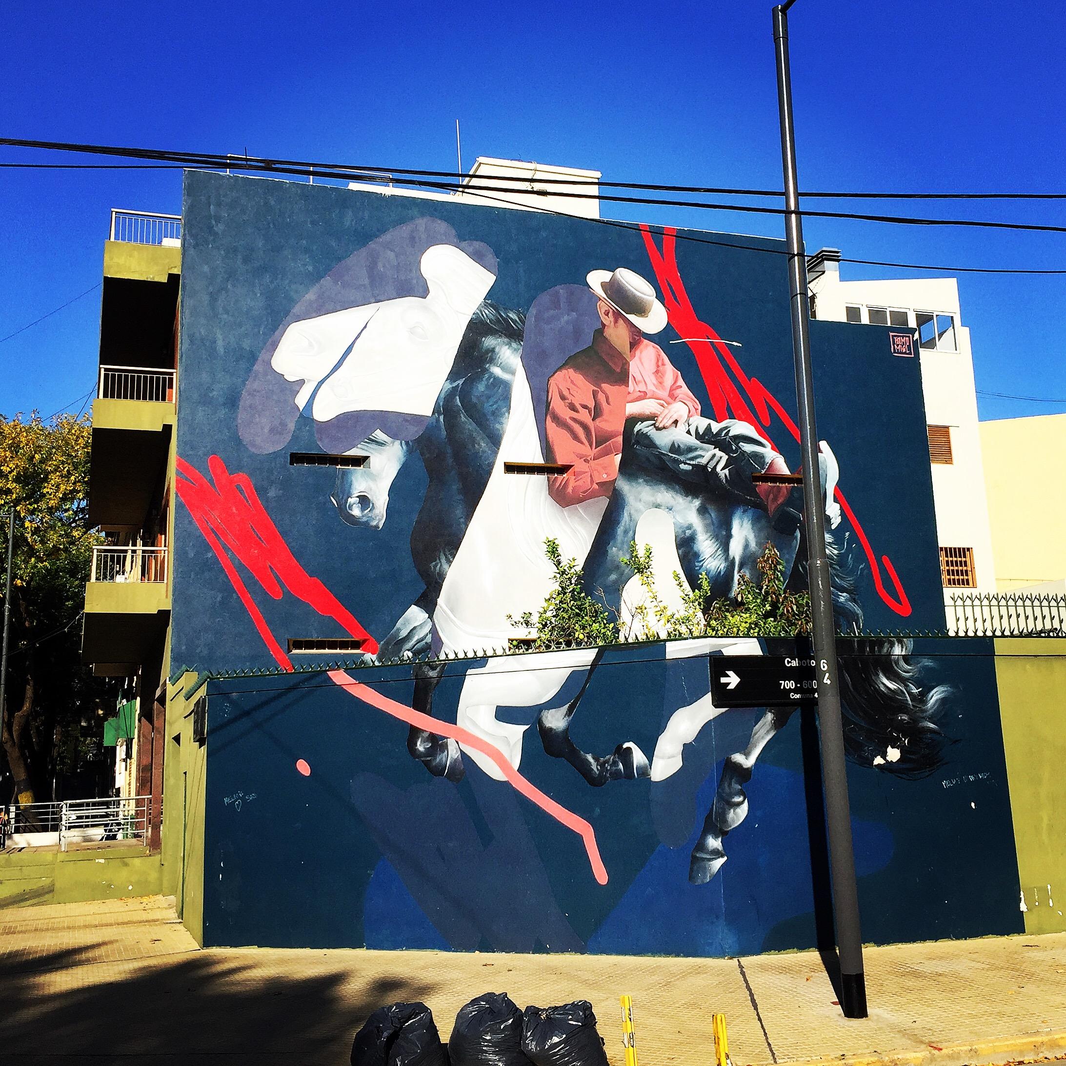 Deconstructed Gaucho (plains cowboy) mural - la Boca