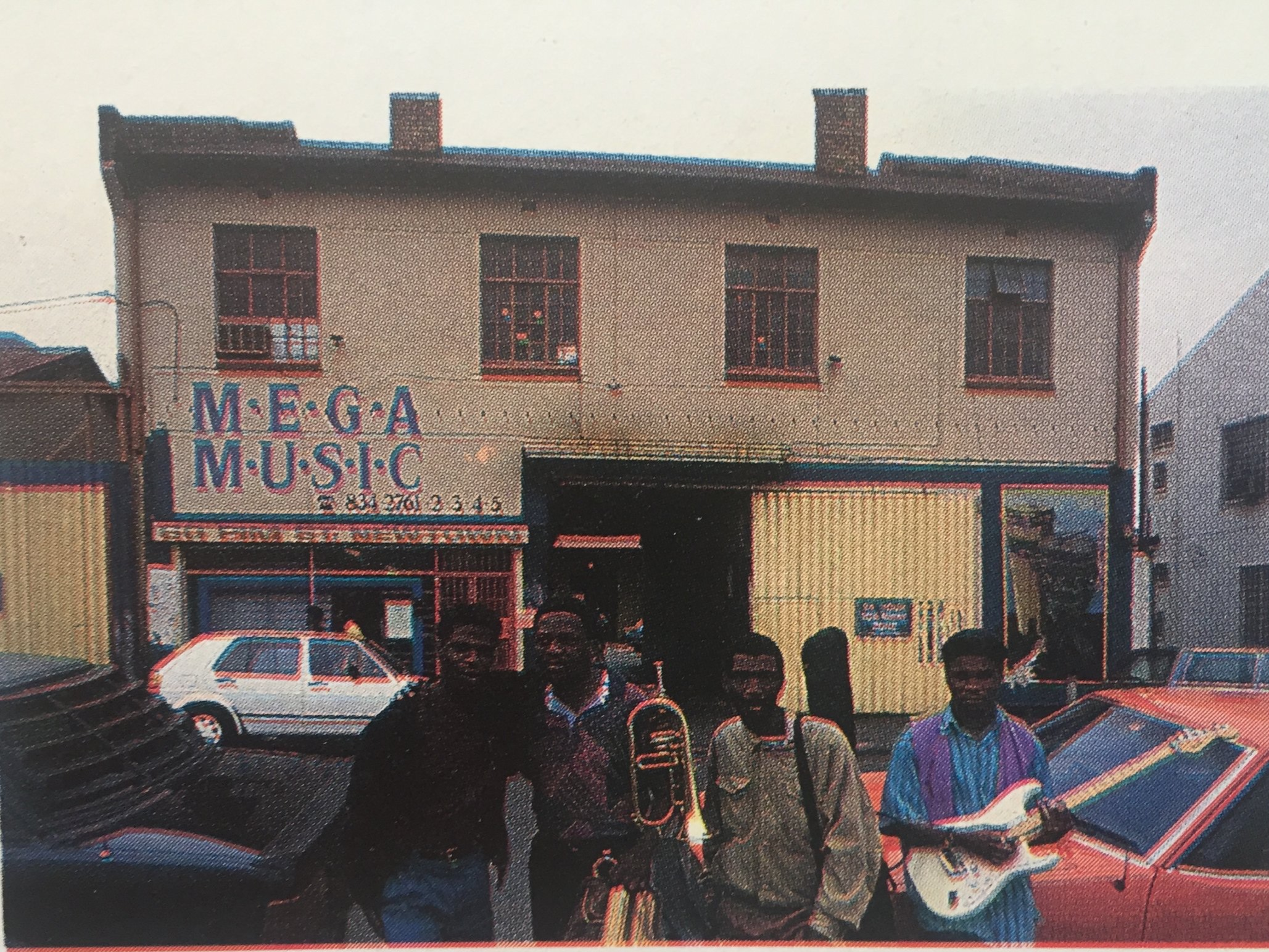 Mega Music - prior to its shift to the venue later known as Baseline. A key agency in the area for musicians. Pic ADA Magazine