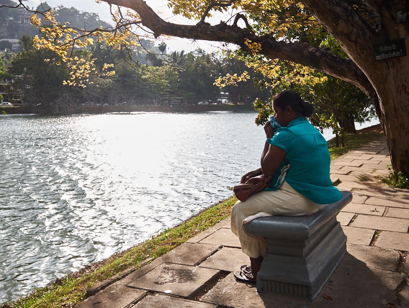 Alone by Kandy lake.jpg
