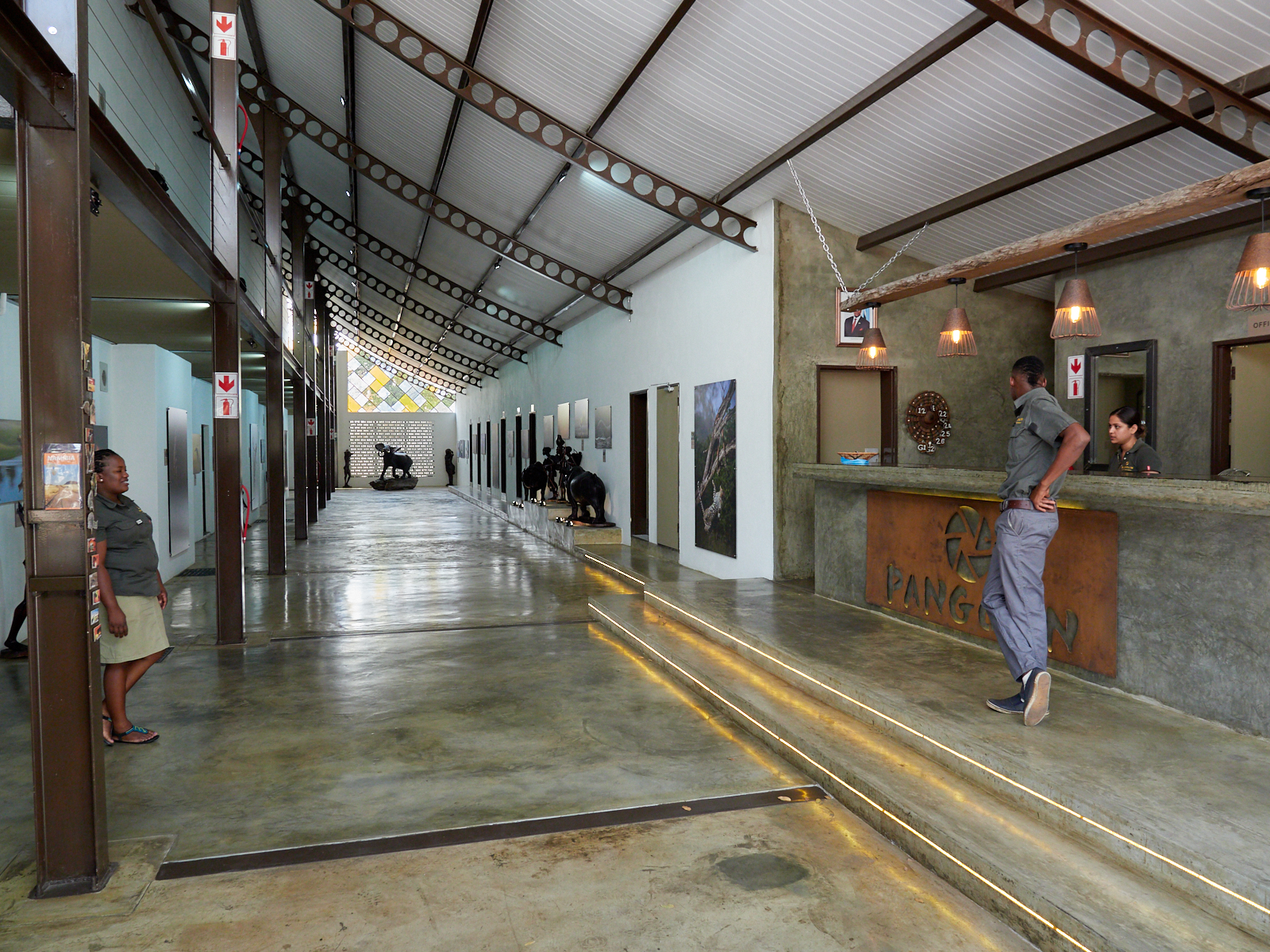 Reception and the ground floor concourse