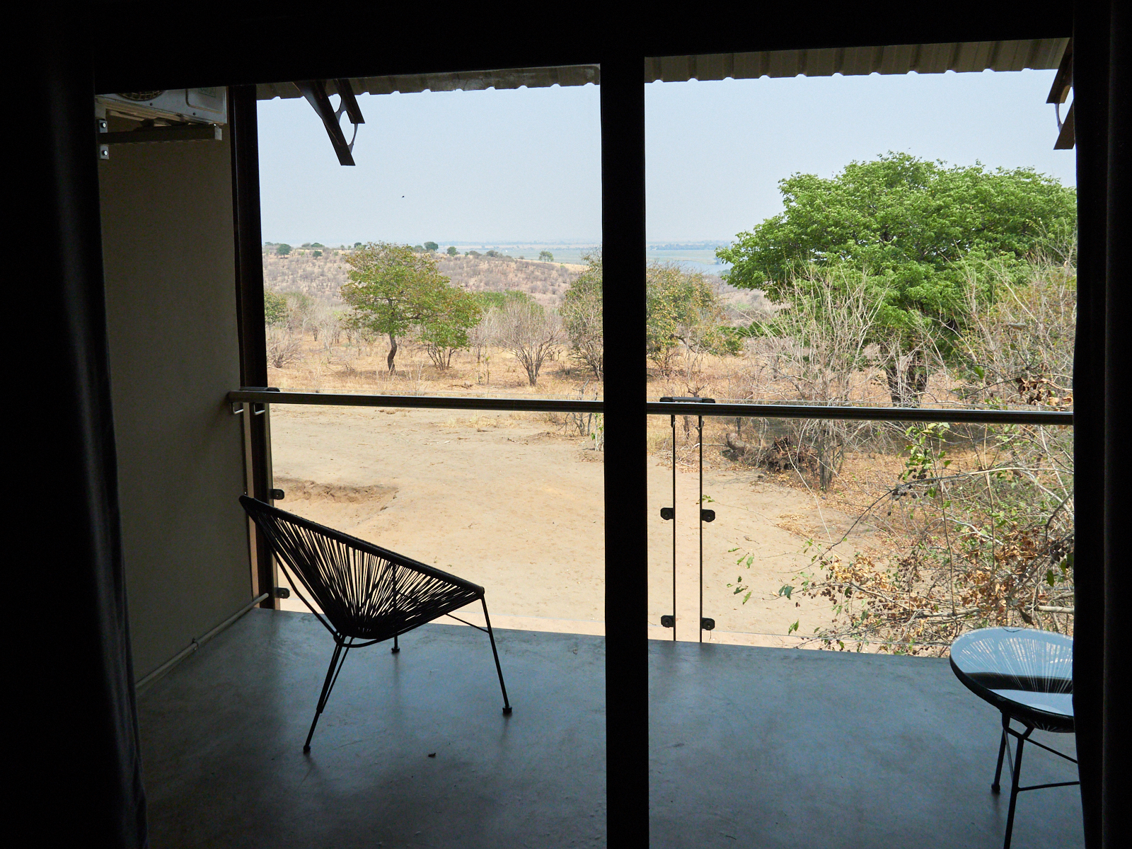 My balcony, and the view over the Chobe river