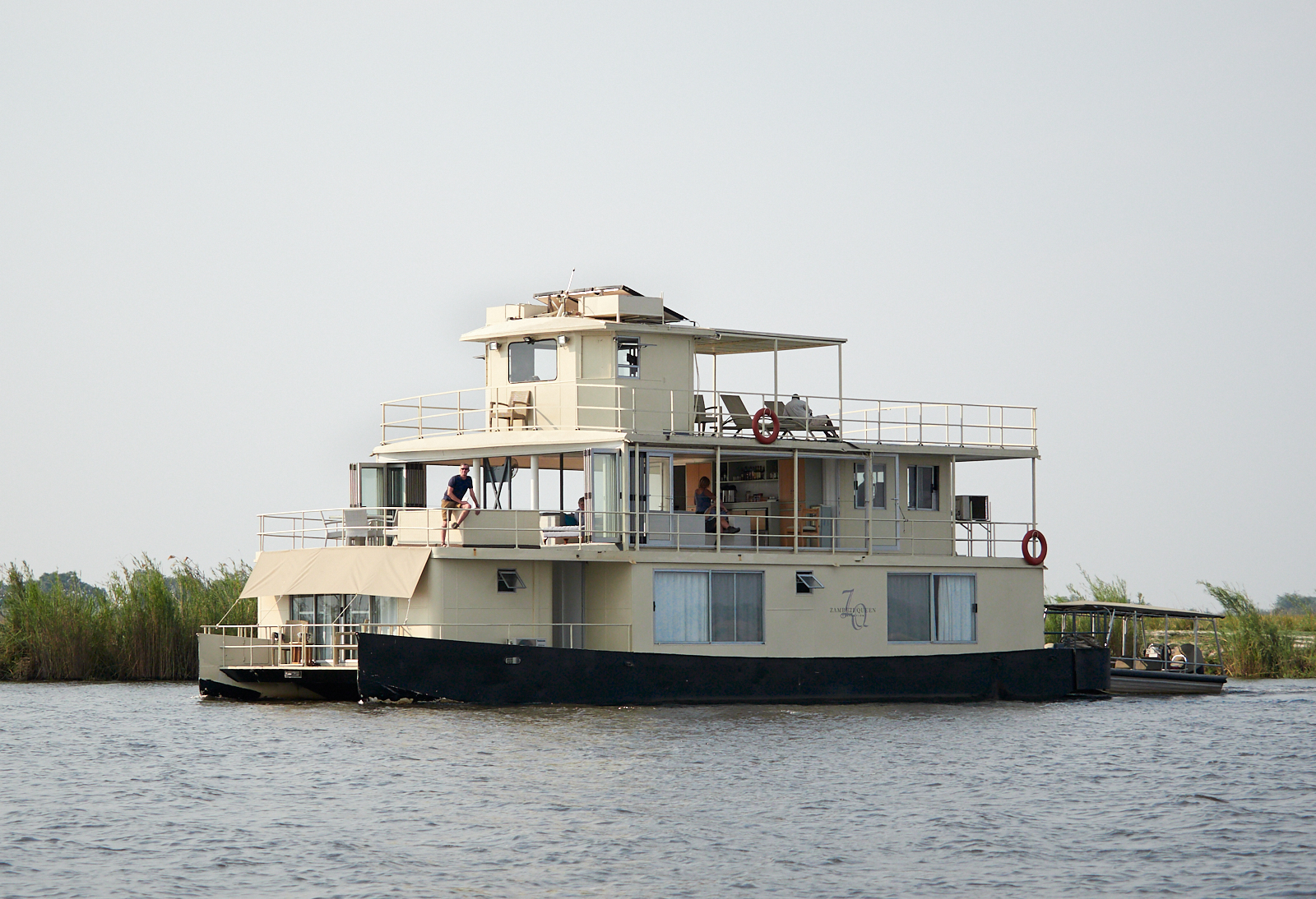 The Zambezi Queen paddle boat