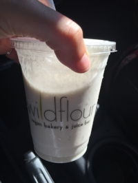 Wildflour  is an amazing vegan bakery I discovered several years ago in Pawtucket, RI. It's become a regular stop on my way to (and often also from) my parent's house in Connecticut, when I stock up on cold-pressed juices, fresh salads, and gluten-free treats. I enjoyed this Creamsicle smoothie and was tickled to discover I could make a pretty decent copycat at home with oranges, coconut milk, and lots of ice.