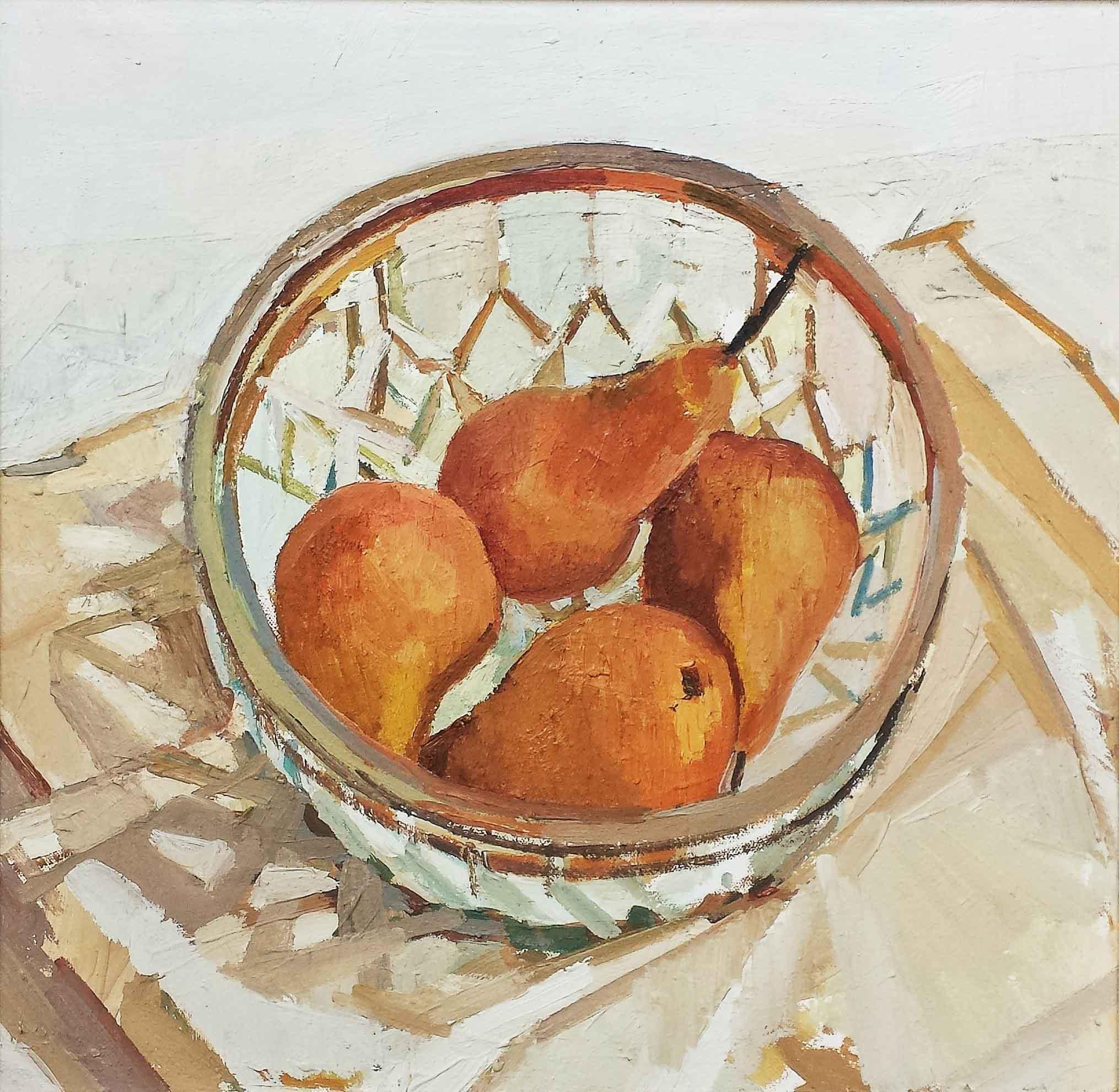 42 x 40 cm Hot Tub, Oil on Canvas