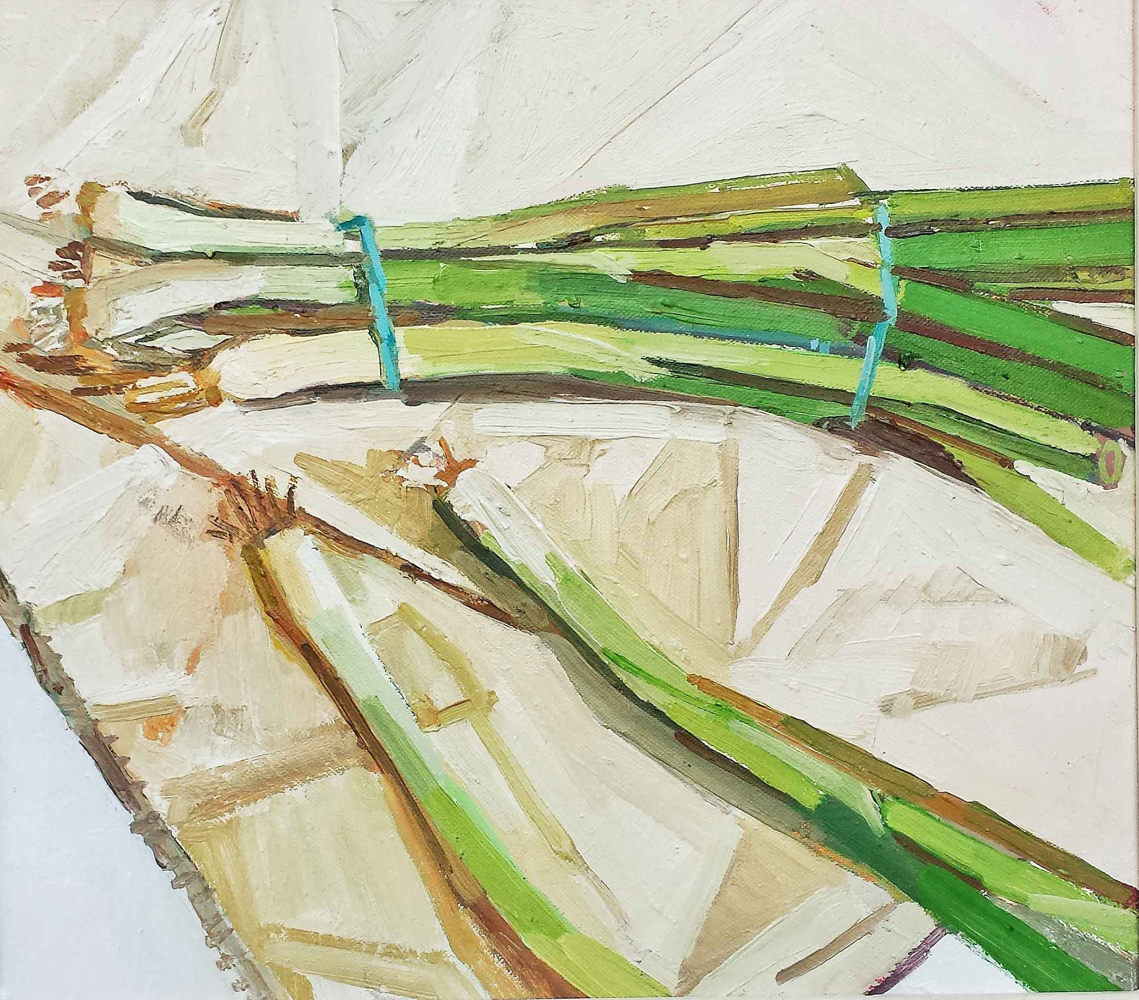 38 x 33 Spring Onions, Oil on Canvas