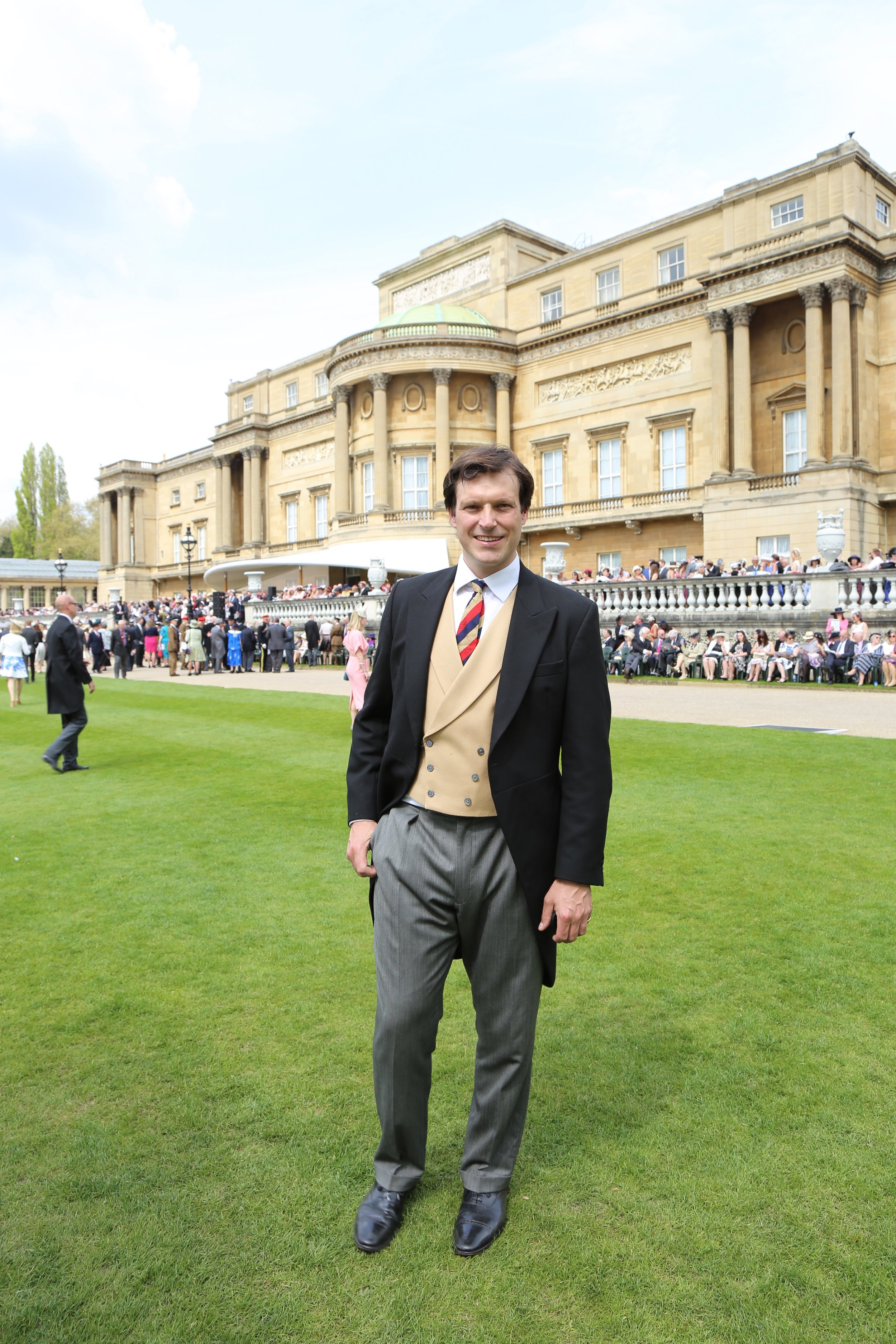 Buckingham Palace for the painting of the Royal Yoemanry Guidon Parade