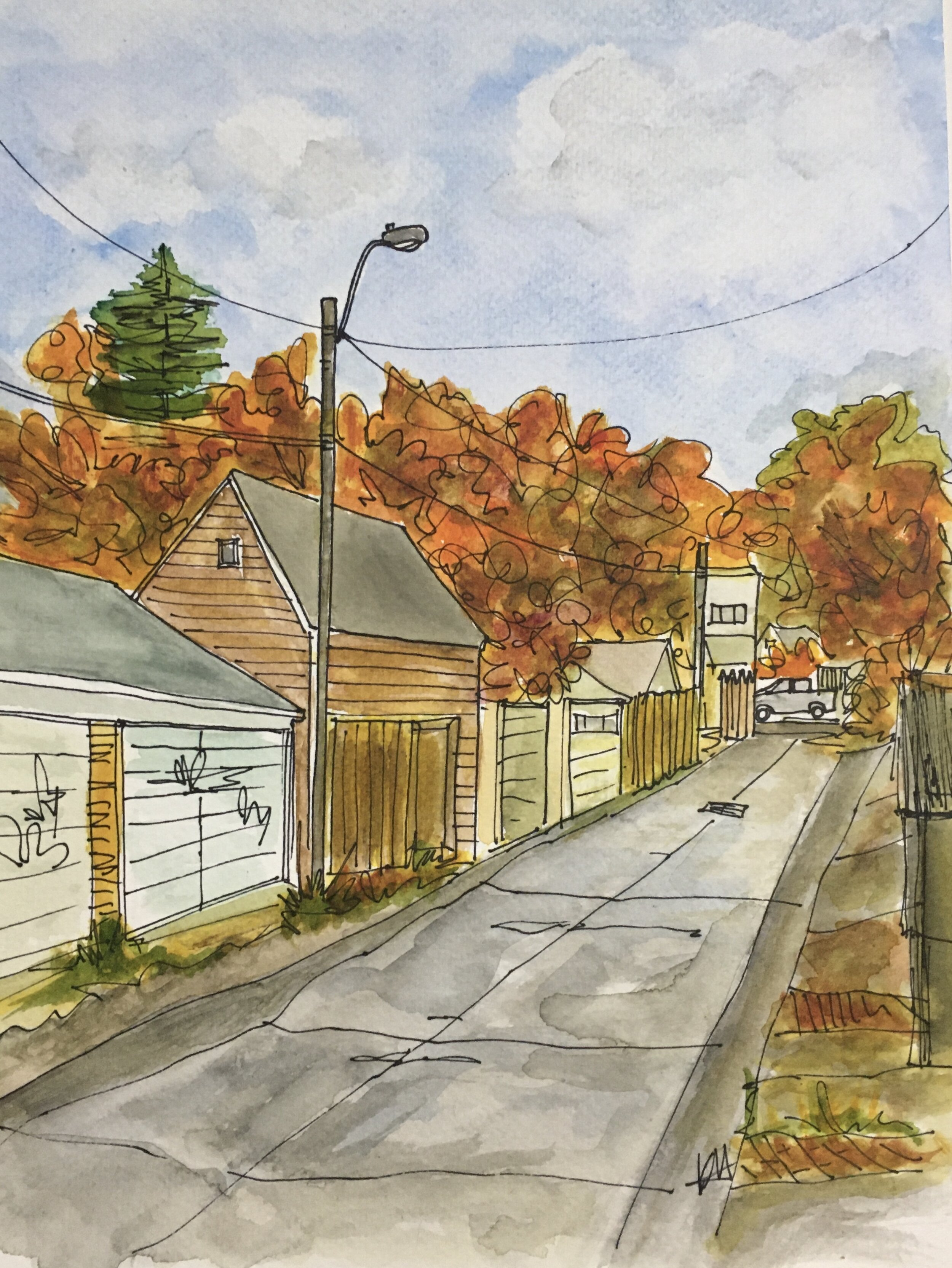 Autumn Laneway