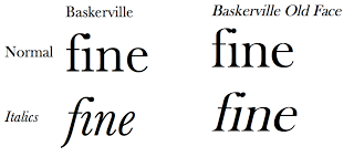 An example of roman and    oblique italics