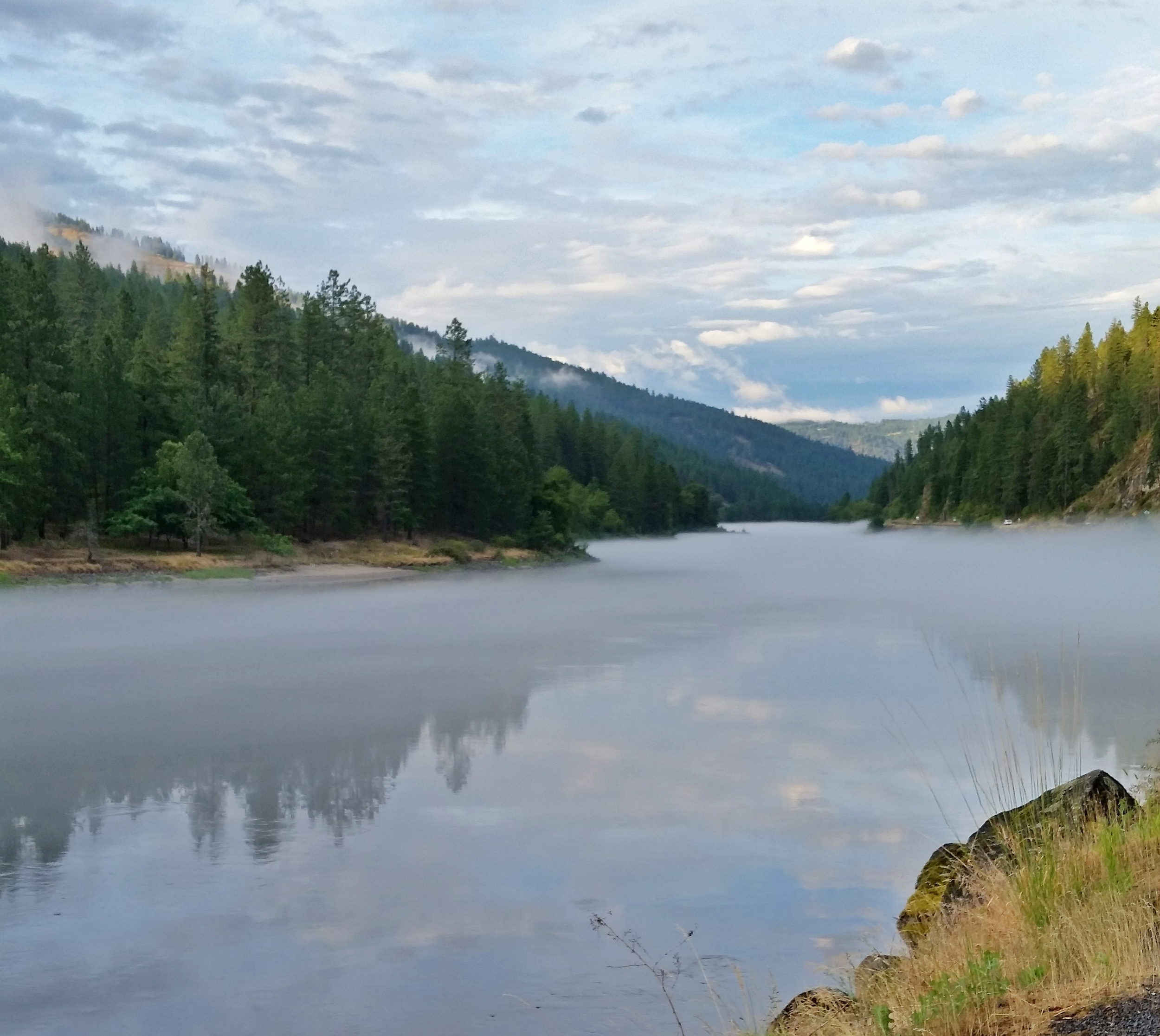 The gorgeous Clearwater River, Idaho-2 miles from our shop.
