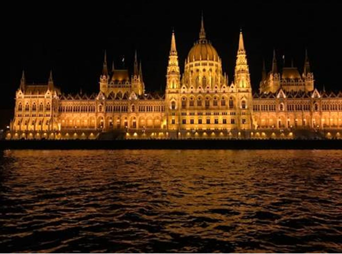 Parliament Building and The Danube by Night
