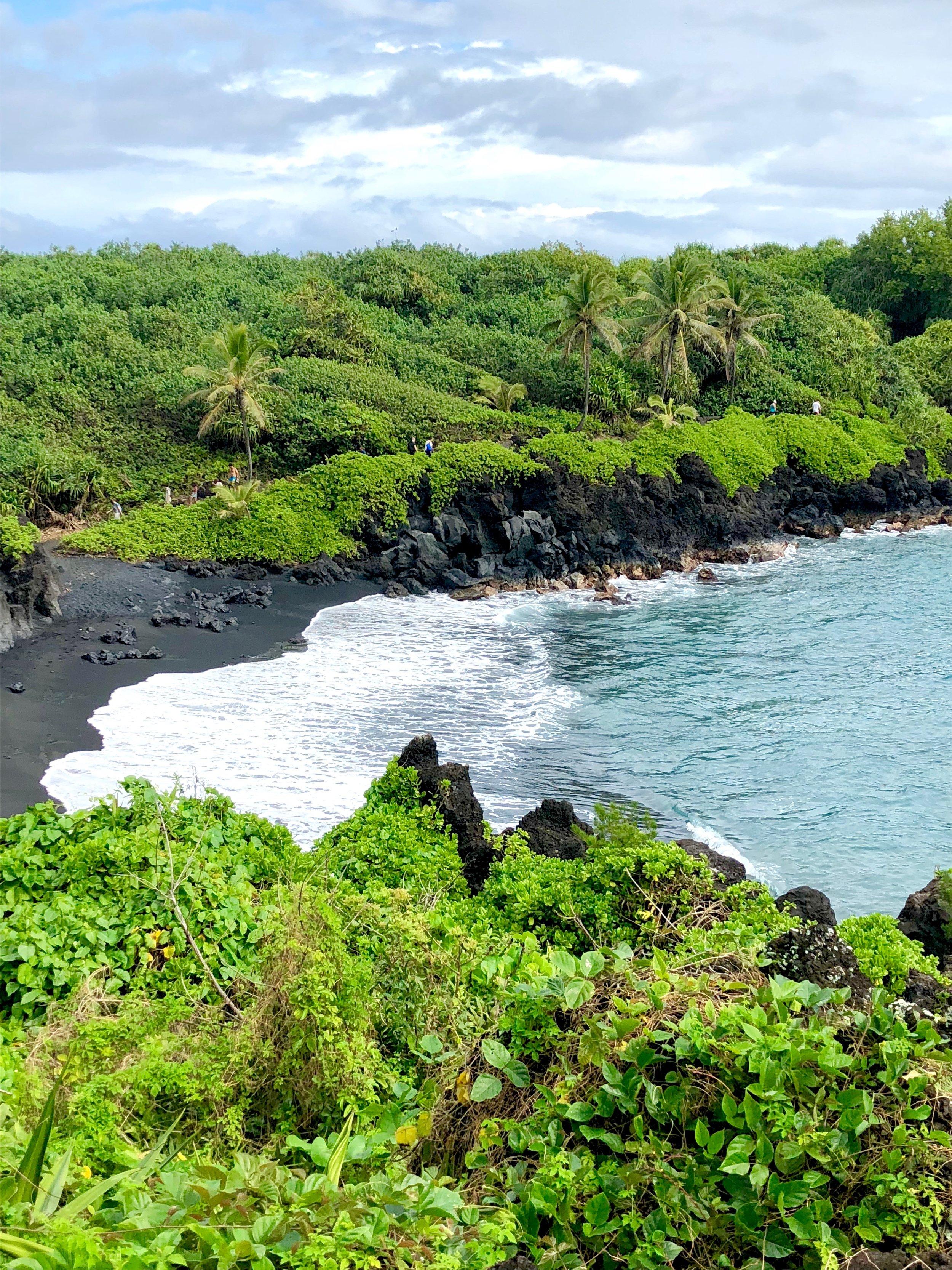 Black Sand Beach at Waianapanapa State Park
