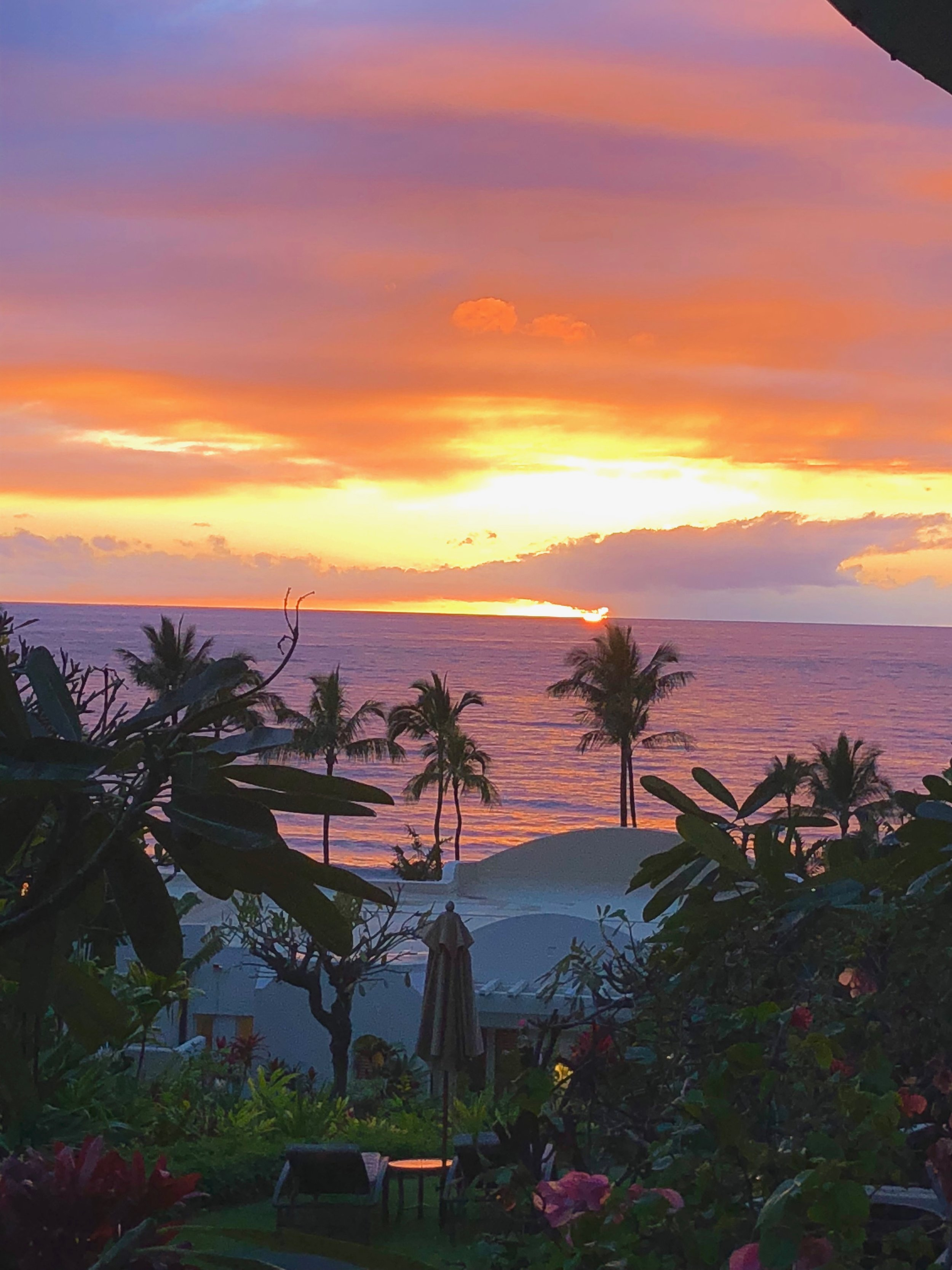 Sunset at Wailea