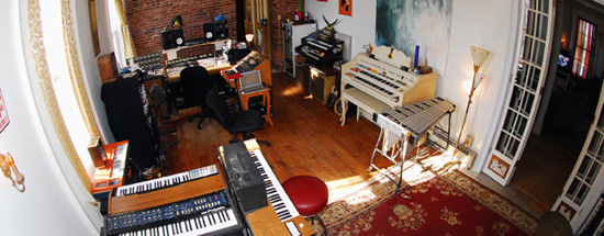 The control room at Old Soul Studios in Catskill, NY