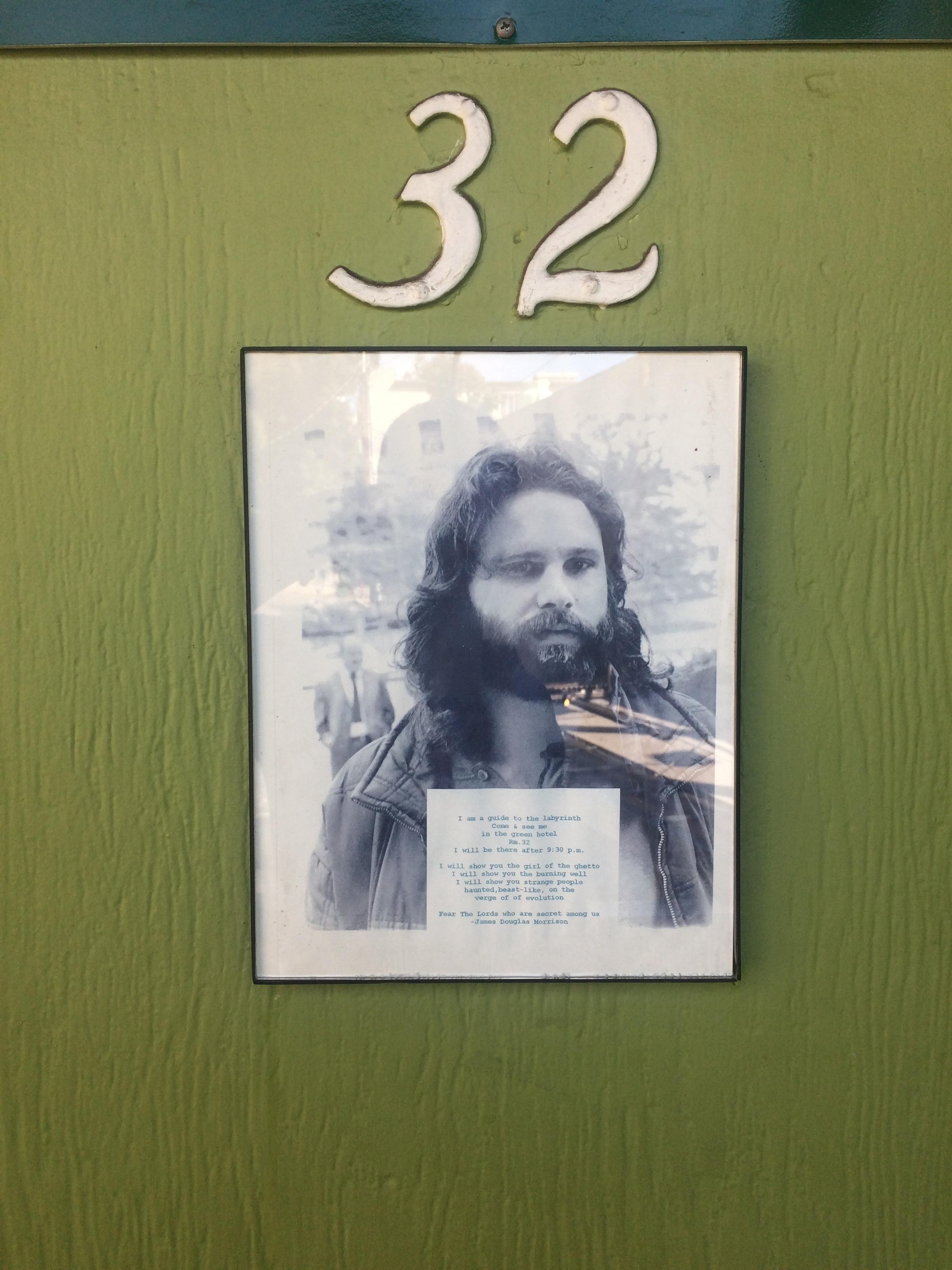 Jim Morrison's Hotel Room Door
