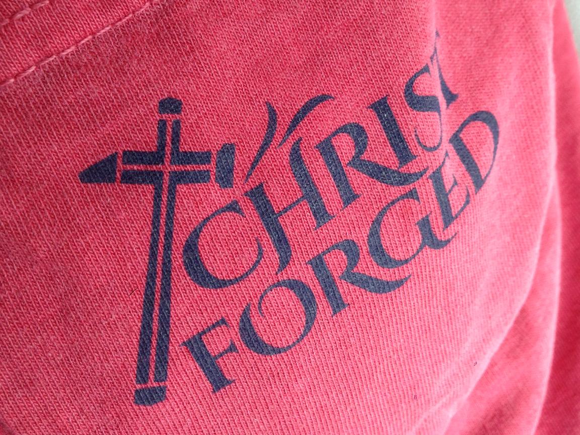Christ Forged Apparel Logo, Website & T-Shirt Designs