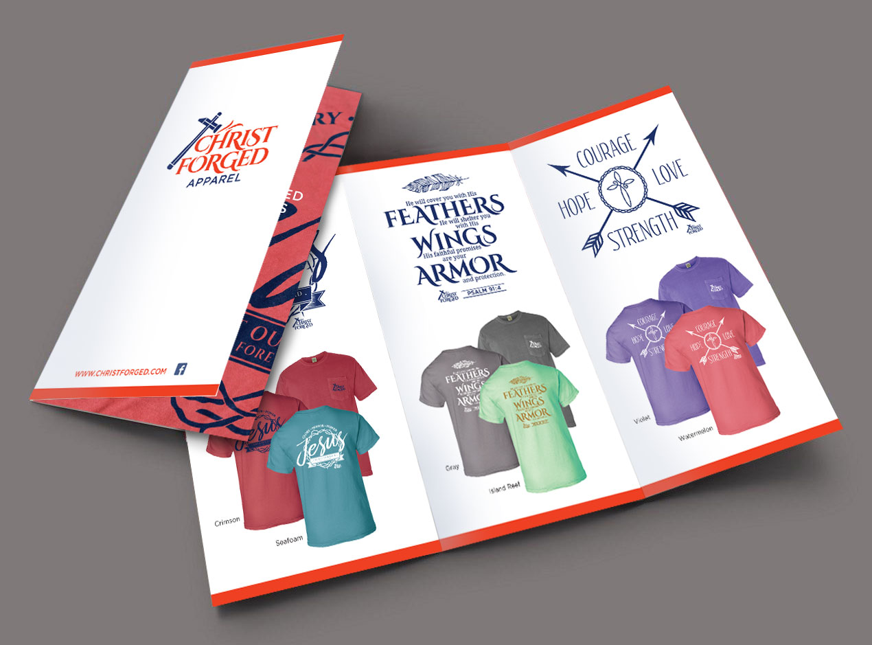 Christ Forged Apparel - Brochure Design