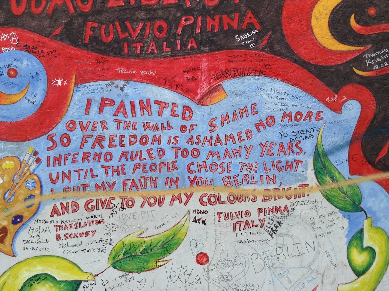 Graffiti on the Berlin Wall, Berlin