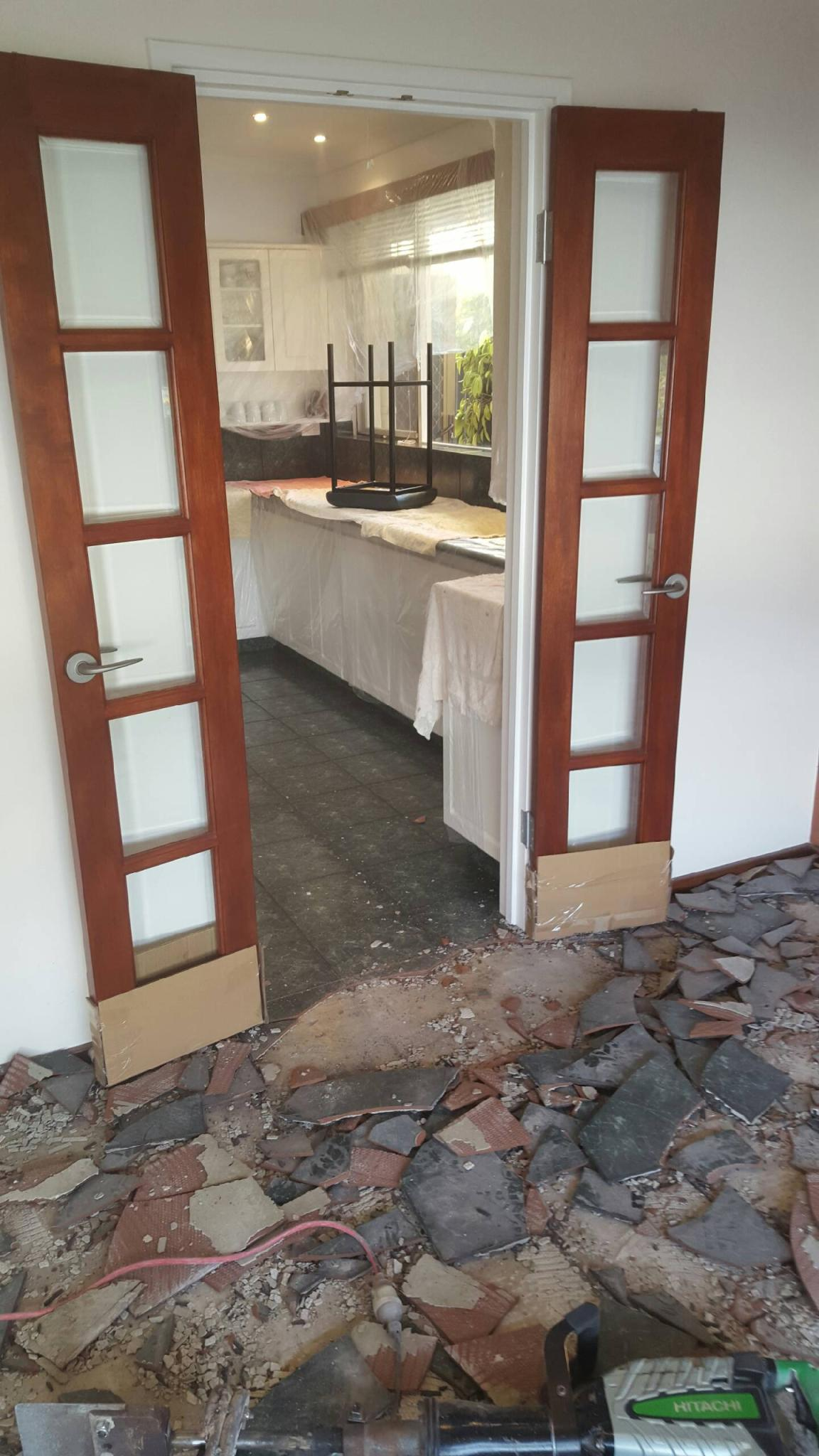 kitchen floor removal