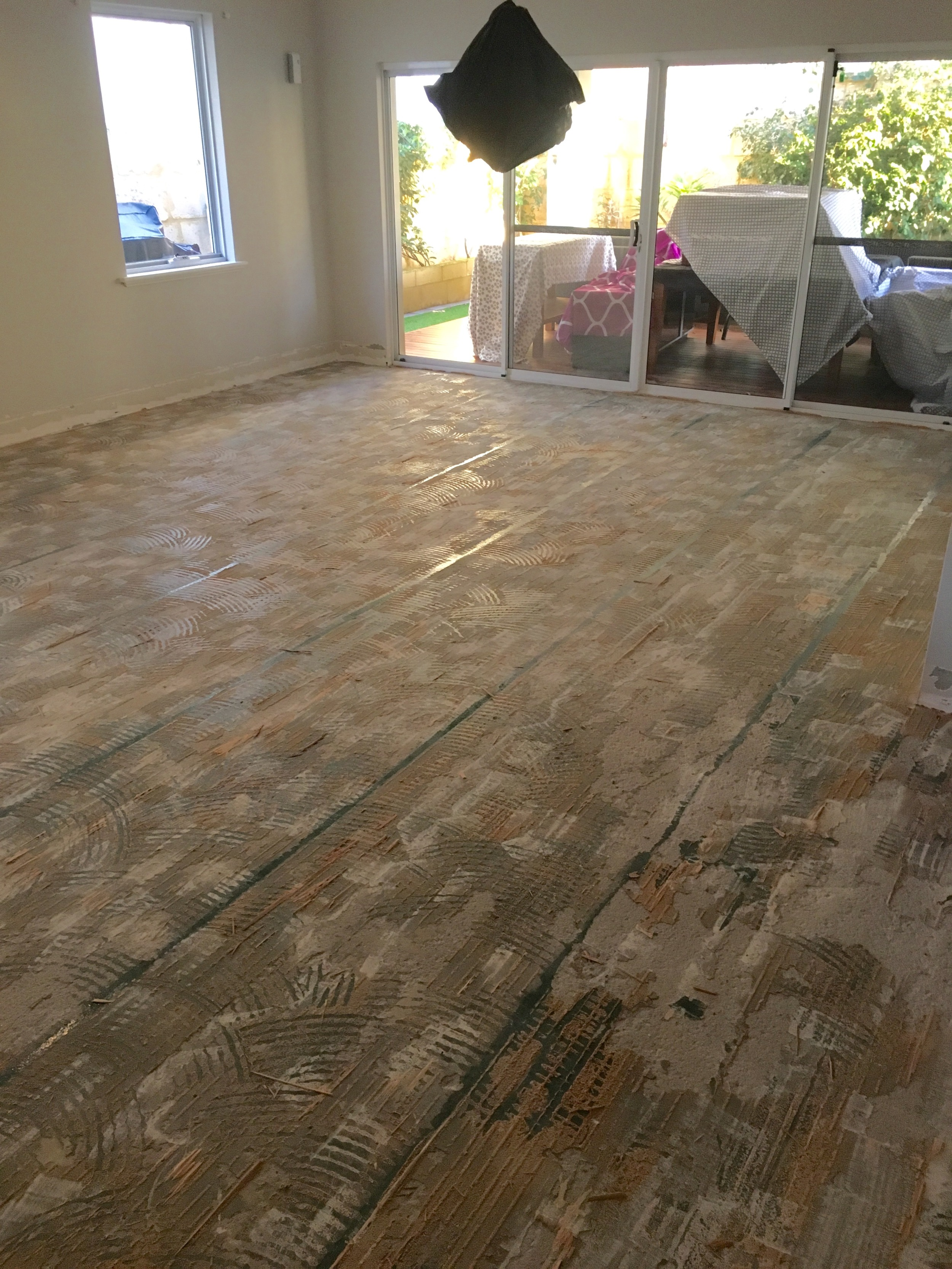 floor removal after
