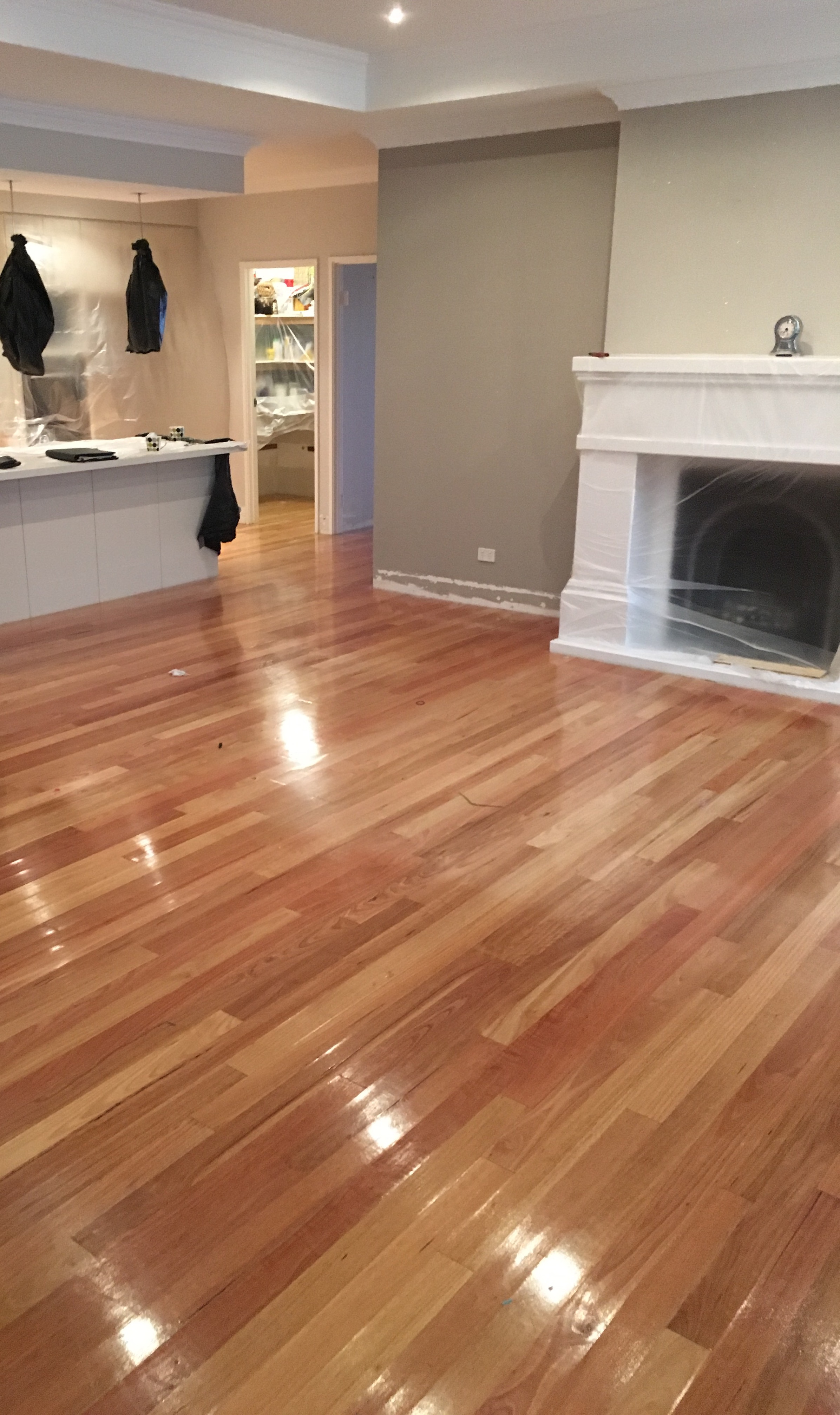timber floor after