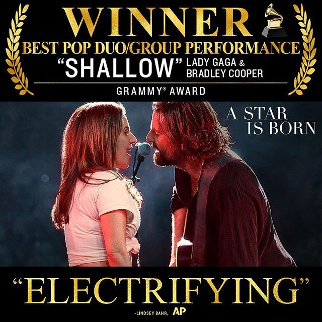 We are continually proud to have worked on this film and this song. #grammys2019 #shallow @starisbornmovie