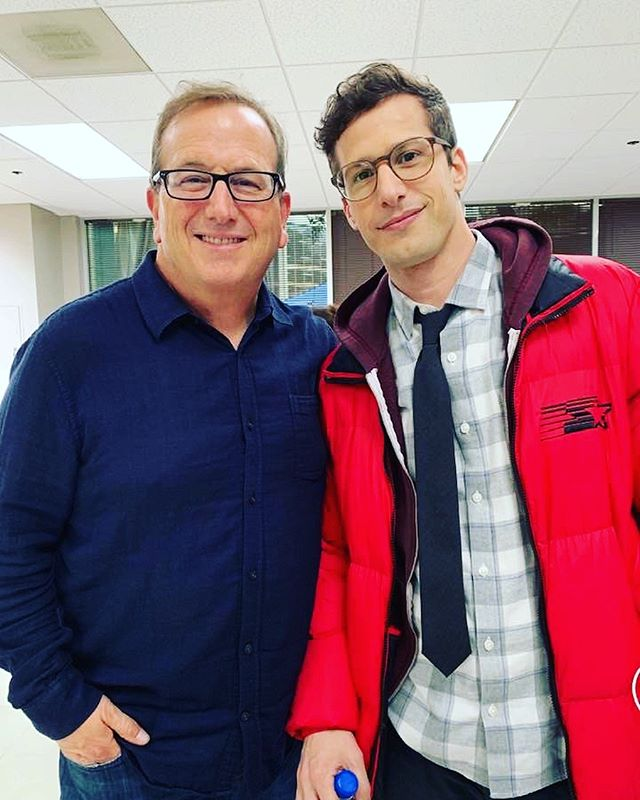We had a fun week on the set of @nbcbrooklyn99! Here is Peter Rotter with @andysamberg... that's all we can share for now! 😎👍🏻🚔 #brooklyn99 #tv @nbc