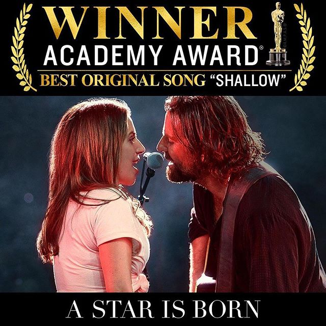 Congratulations to the whole team of A Star is Born. What an epic year! #Repost @starisbornmovie ・・・ The amazing songwriting team of @ladygaga, @iammarkronson, @antmundo & @wyattish has won Best Original Song. #AStarIsBorn #Oscars⁠