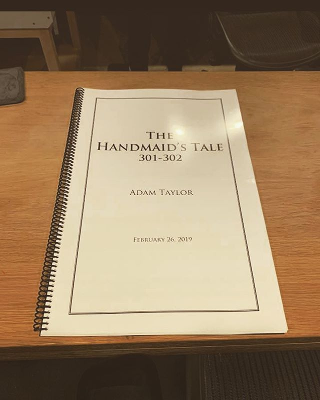"""Such a privilege to conduct Adam Taylor's brilliant music for this timely and important show The Handmaid's Tale.  Season 3 started today!! Thank you to  ELBO studios for being great hosts and to the incredible musicians who bring the music to life with their skillfulness and their soulful playing. Thank you to Jason LaRocca our engineer and to our great team of orchestrators, Ed Trybek, Henri Wilkinson and Jonathan Beard.  Looking forward to our next session!!"" -Peter Rotter"