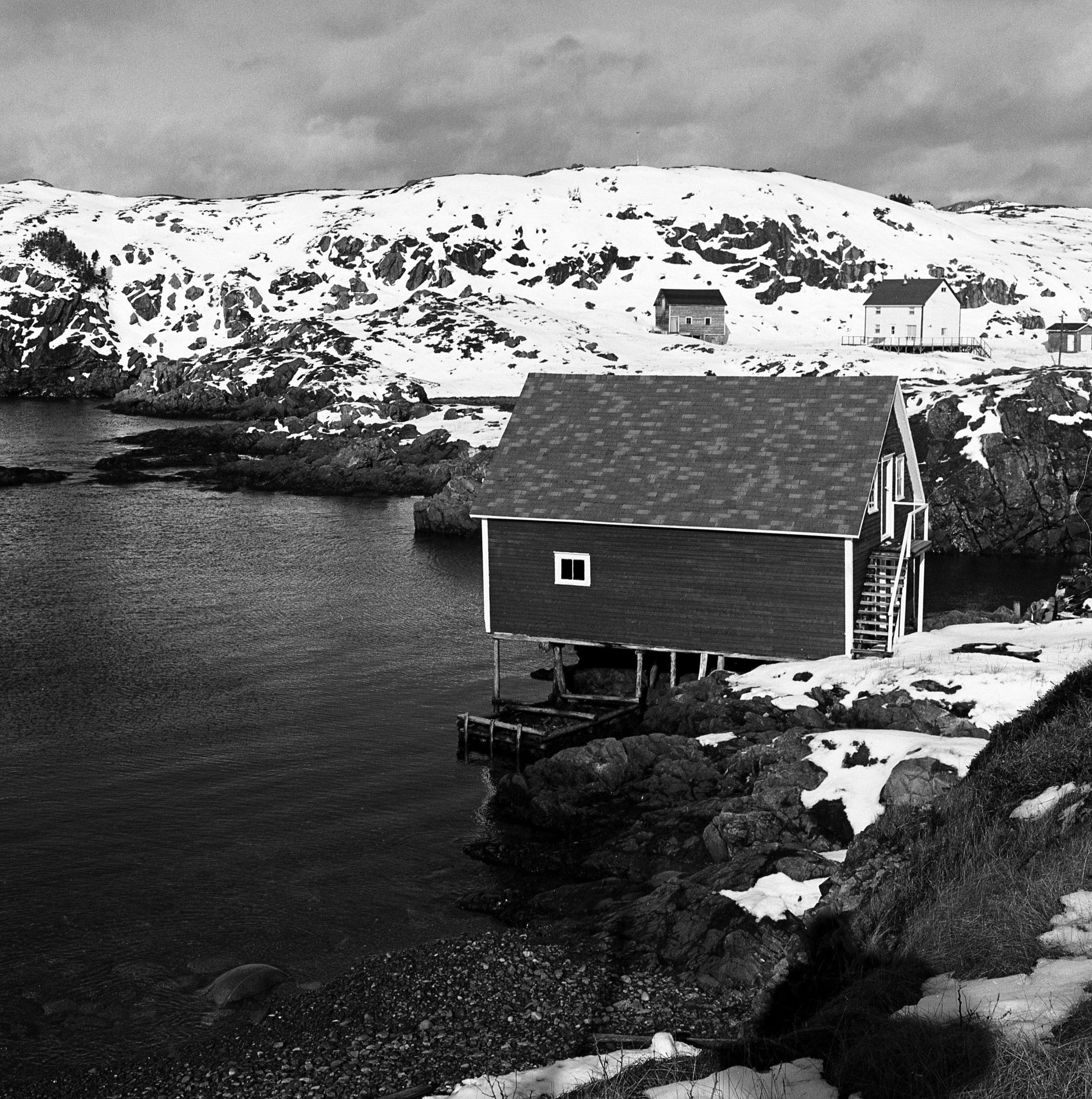 A stage, Change Islands, Newfoundland
