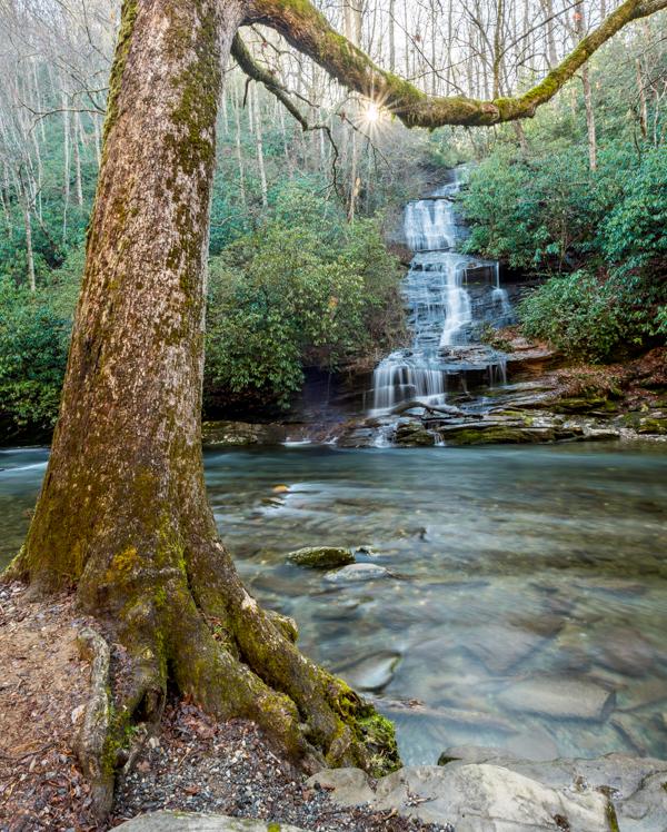 Tom Branch Falls Along Indian Creek Trail