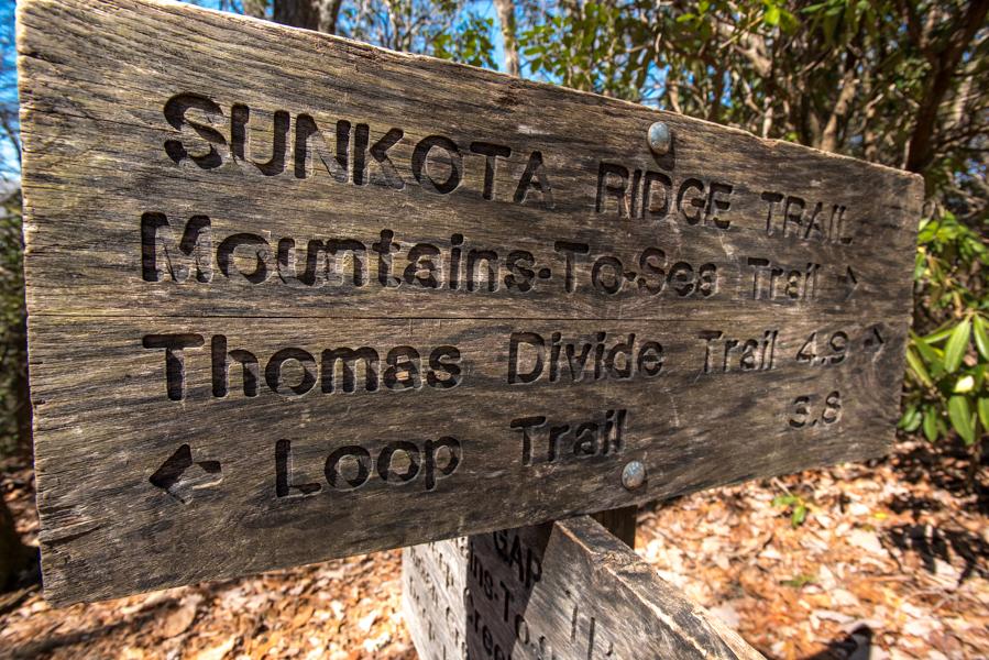 Sunkota Ridge Trail (head toward Loop Trail if following this guide)