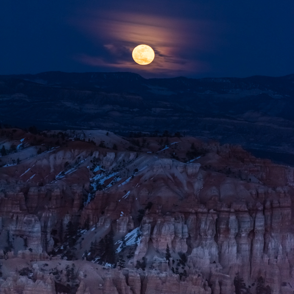 Full Moon Rising Over Bryce