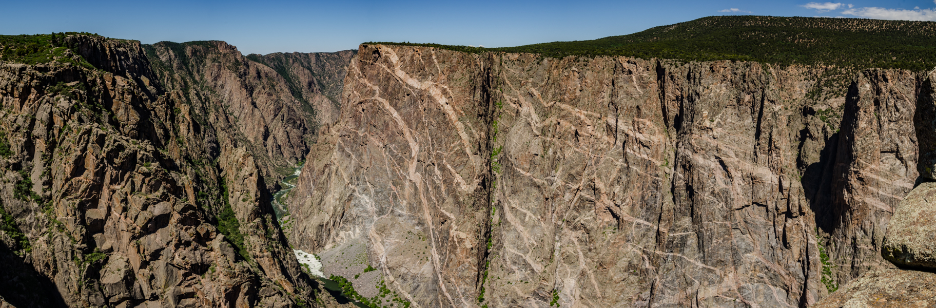 The Painted Wall from an Overlook Along the South Rim Drive