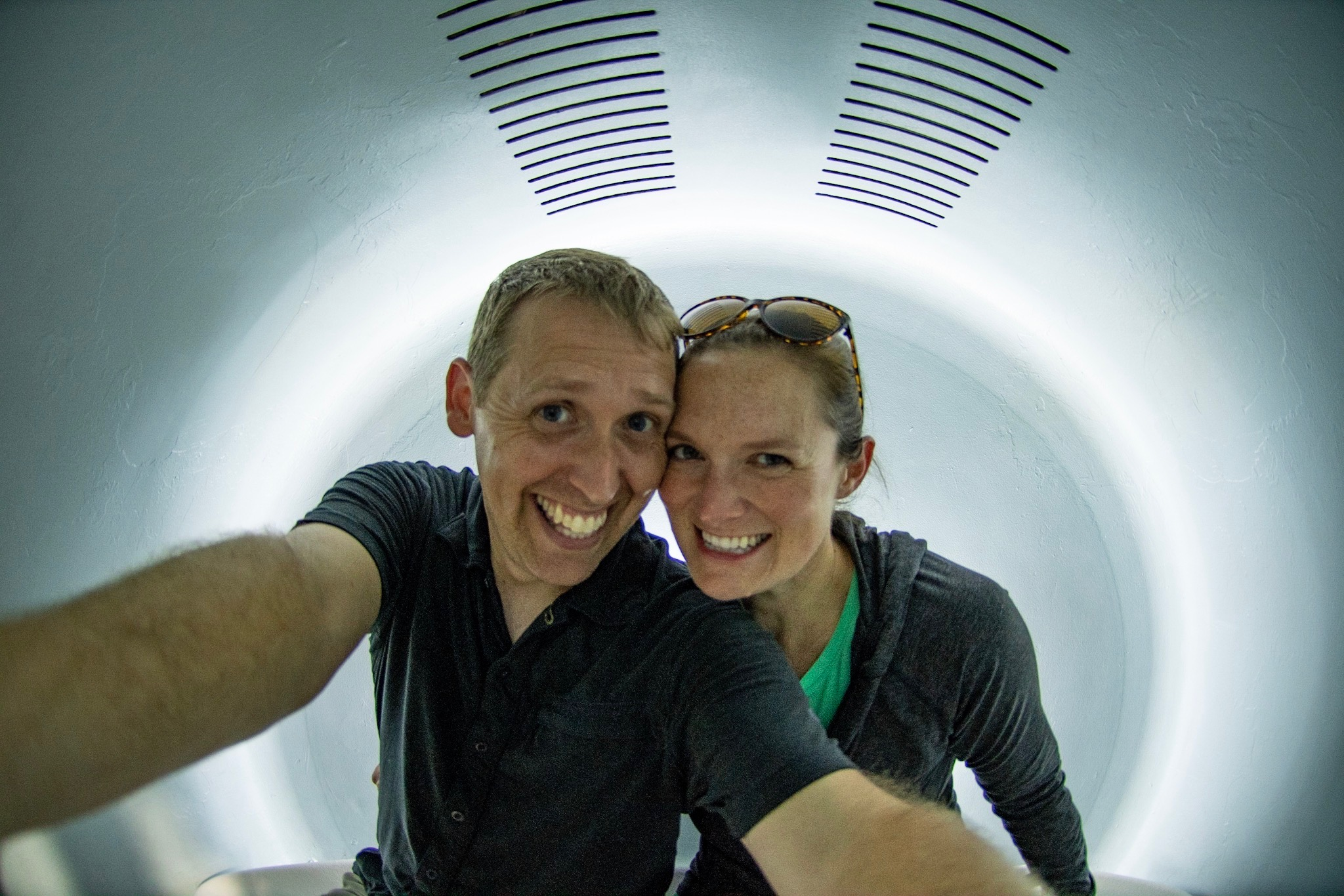 Fisheye Selfie in Gateway Arch Tram