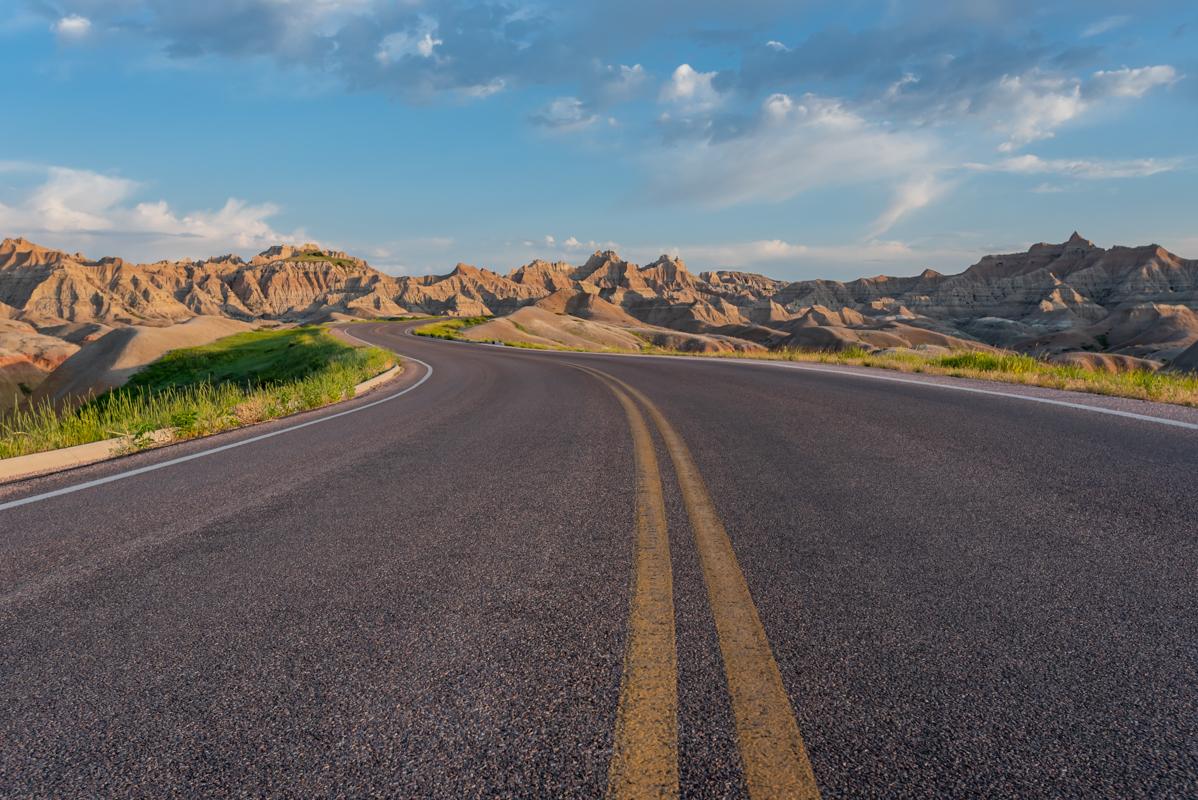 Road Winds Through Badlands