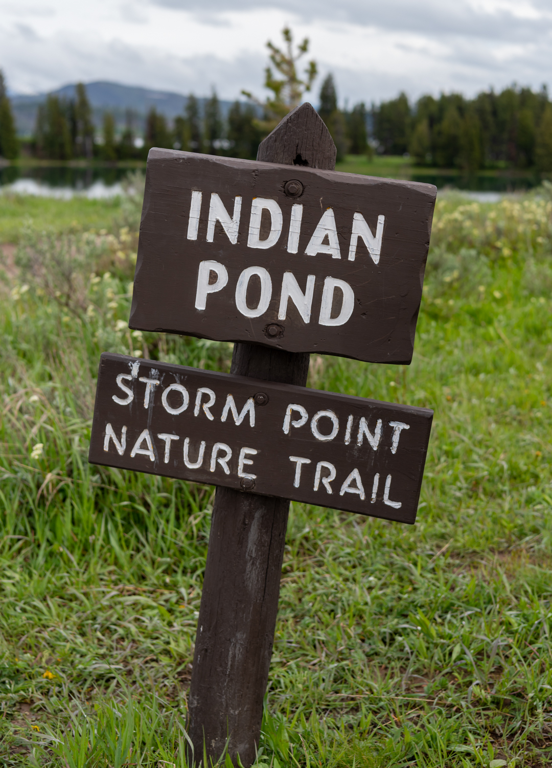 Sign for Indian Pond