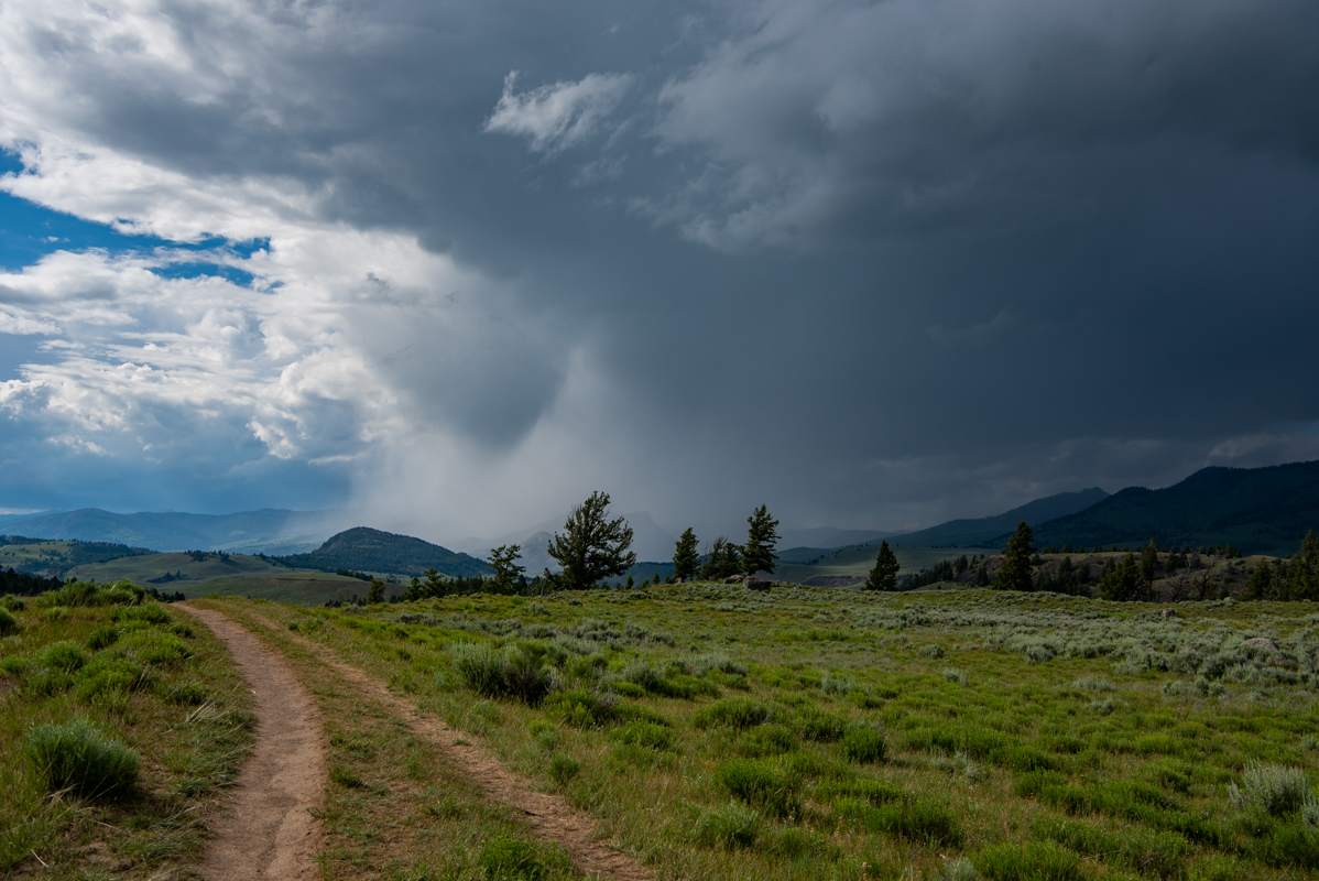 Double Track Trail Heading Into Stormy Sky