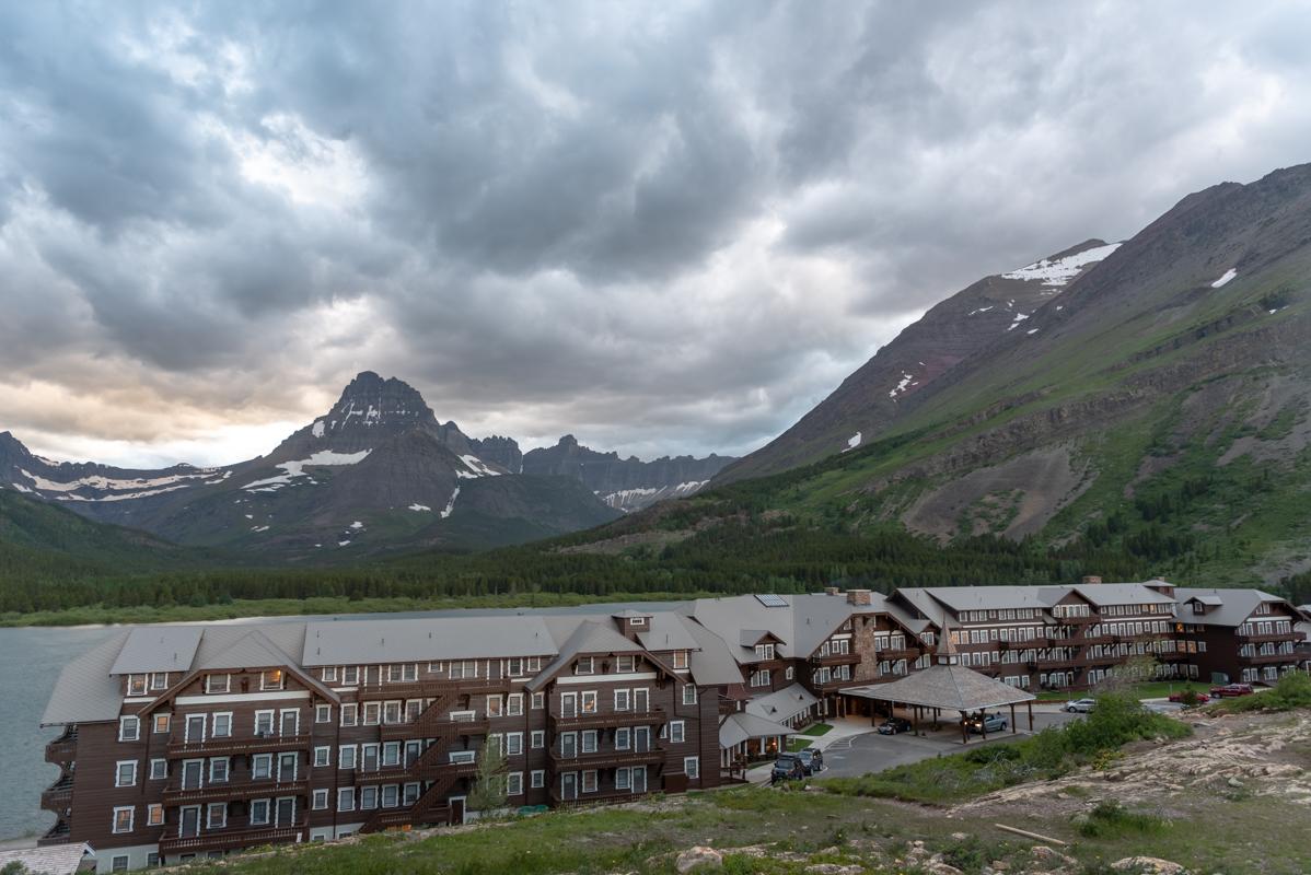 Mt Wilbur and Many Glacier Hotel
