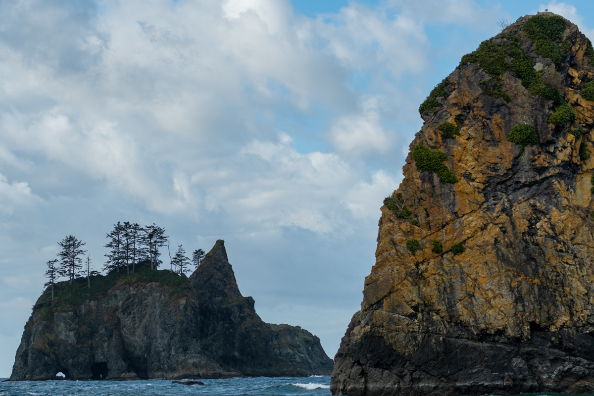 Point of the Arches along Washington coast