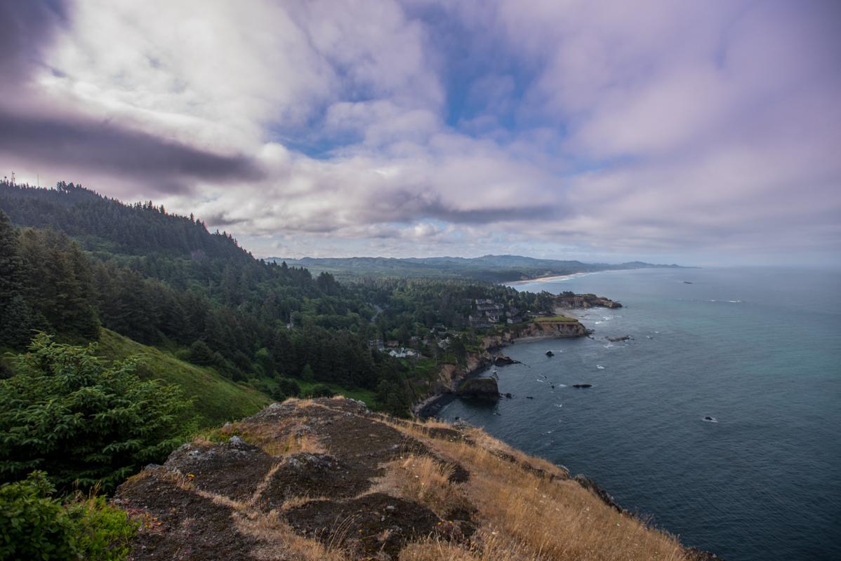 Looking Down the Oregon Coast
