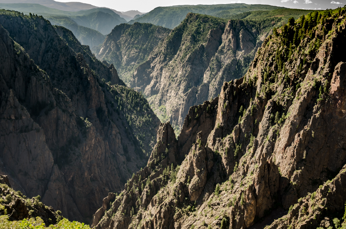 Jagged Cliffs of Black Canyon