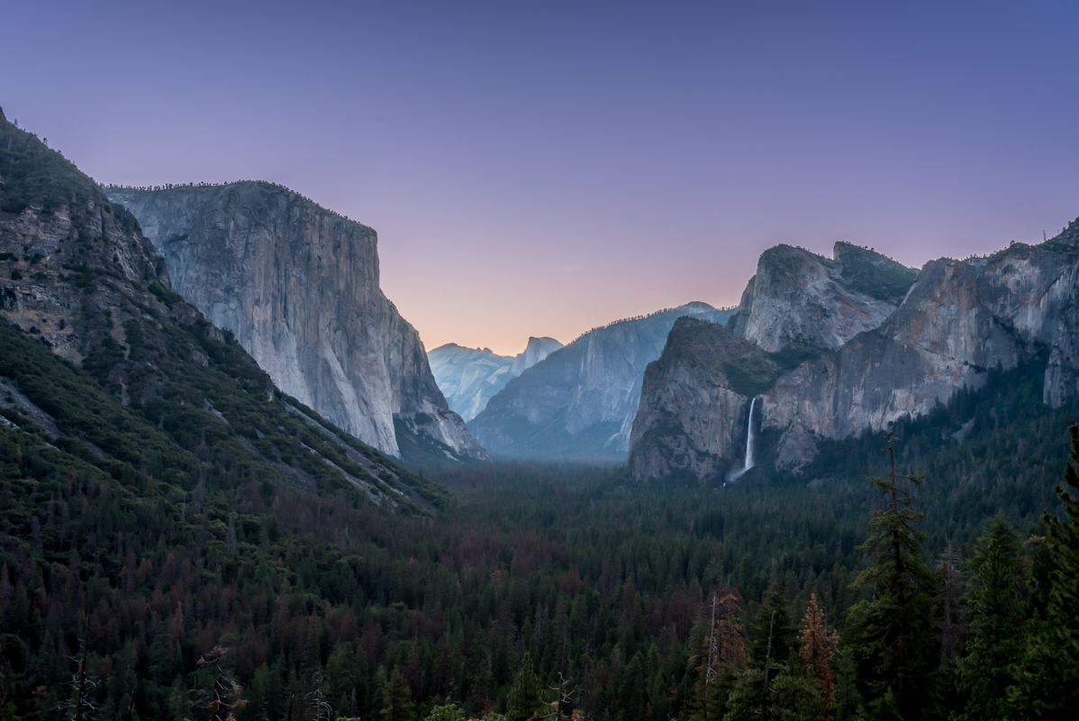 Late Dawn Over Yosemite Valley