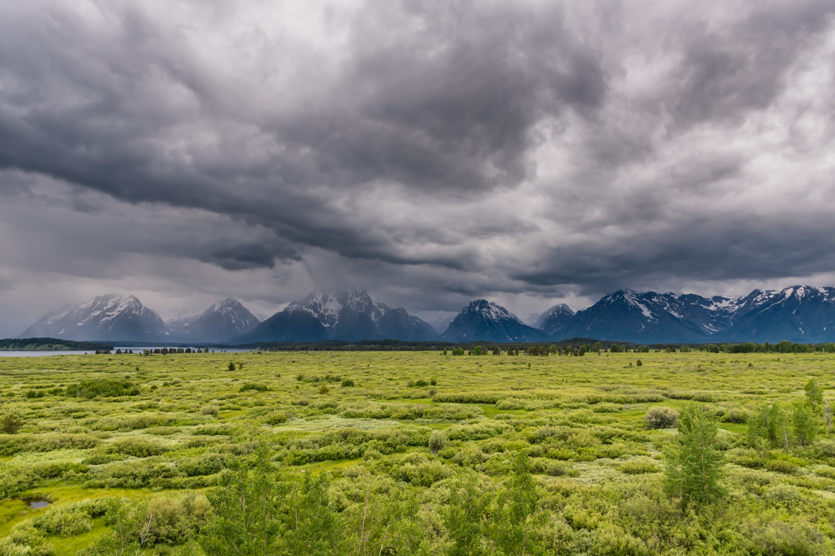 Stormy Clouds Over Teton Range