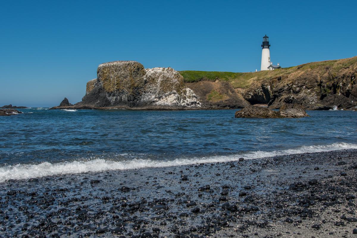 Yaquina Head Lighthouse from Beach