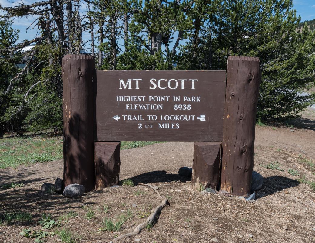 Mt Scott Trail Head Sign