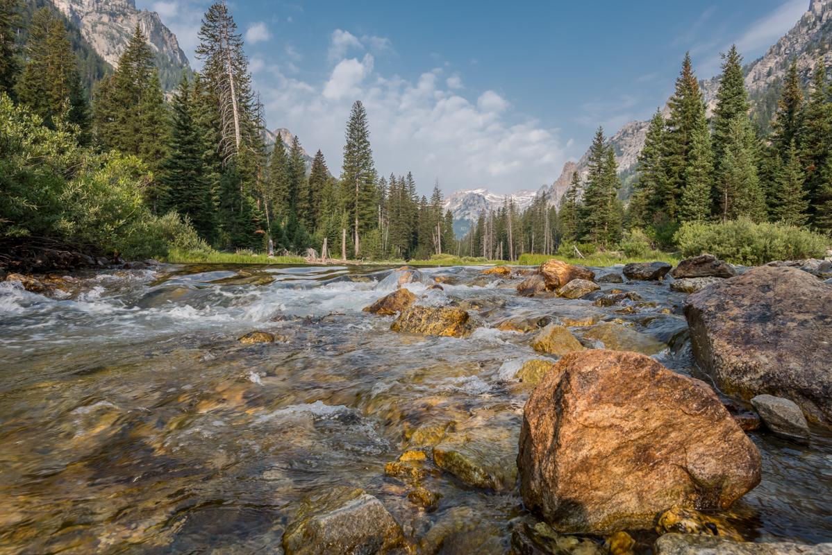 Creek Flowing Through Cascade Canyon