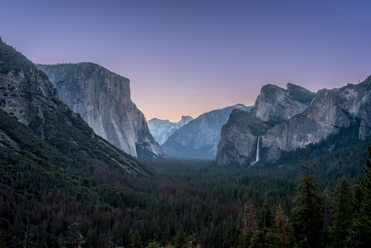 Late Dawn Over Yosemite Valley
